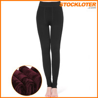 Closeout thermal leggings overstock for Mexcio from China factory 150909
