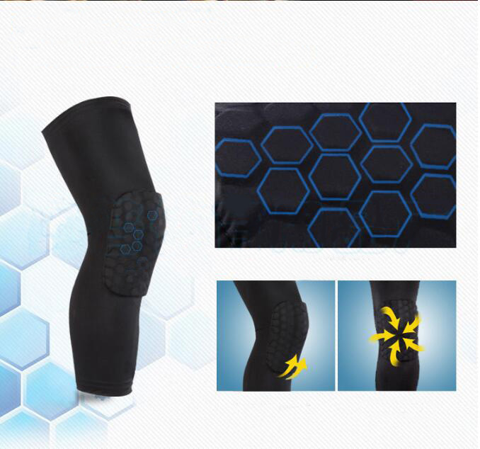 2017 New Quick Recovery Various Color Adjustable Fitness Neoprene Knee Support Brace for Basketball or Football