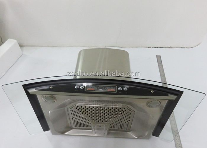 Stainless Steel Filter Oil Cup Range Hood/Tempered Glass Cooker Hood