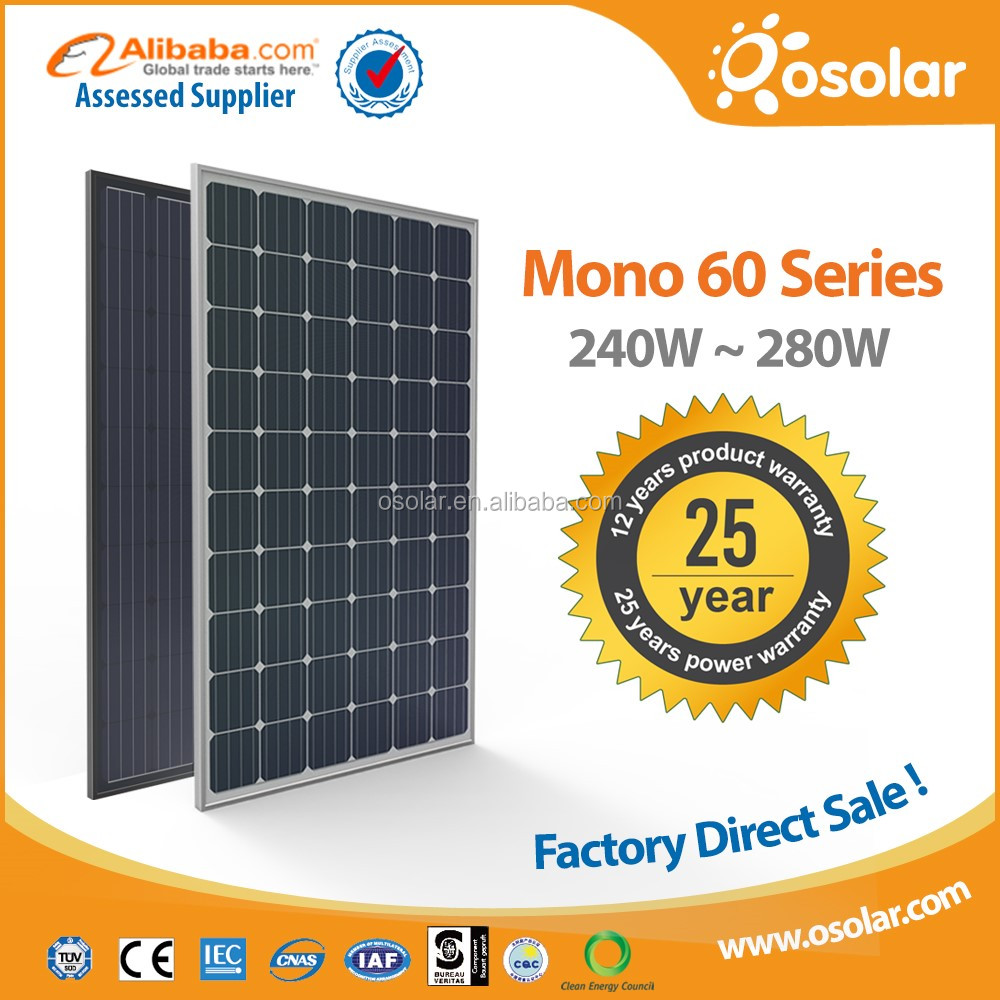 Osolar Mono 260W 270W 280W photovoltaic pv solar panel for home solar | photovoltaic