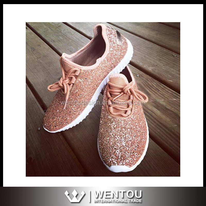 Wholesale New Design Glitter Sneakers