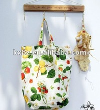 2012 Natural cotton tote bag with long handles