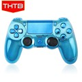 High quality light blue housing case for ps4 controller chrome shell