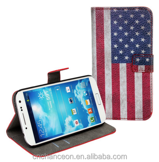 Retro national flag pattern stand leather flip case for Samsung galaxy s4 s5 s5 mini s6 s6edge CO-LTC-1047