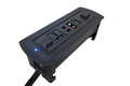 ZeShan ZSP-3 Black Flipping Electric Socket with VGA and Audio L-R for High Class Conference Table