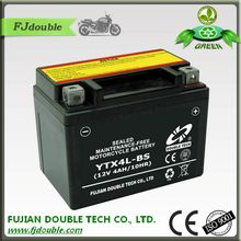 hot sale rechargeable lead acid smf motorcycle 12v 4ah battery and charger