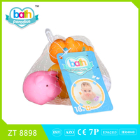 New !PVC cow+chicken+pig+sheep baby bath learning toy