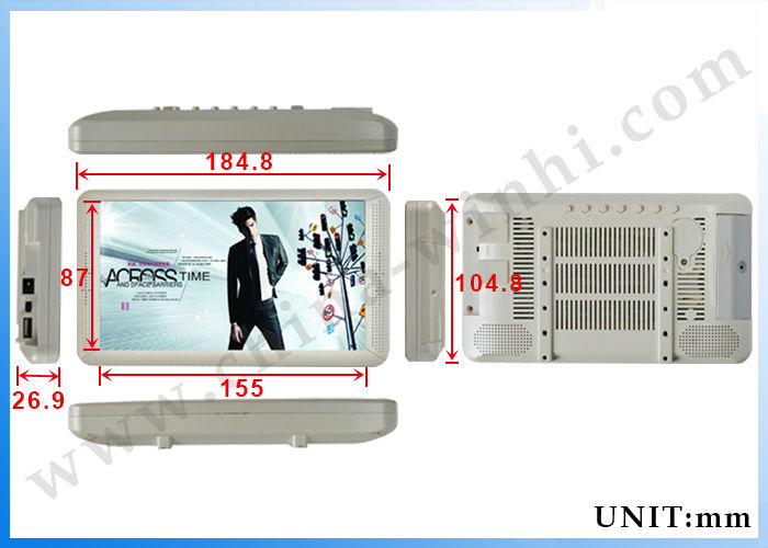 OEM supermarket shelf advertising display cheap lcd tv for sale 7 inch lcd panel advertising equipment