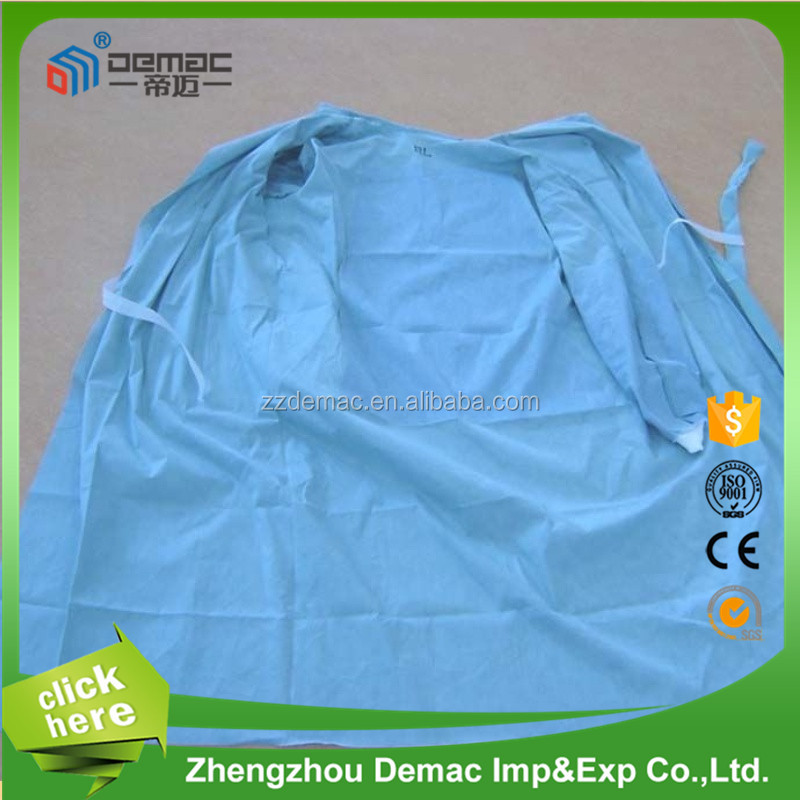 Non woven operating room disposable products sterile surgical gown