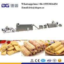 Twin screw extruded chocolate injecting pillow corn stick snacks making extruder machine /processing line China factory
