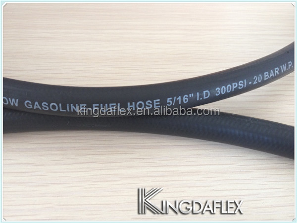 Fabric Reinforced Unleaded Fuel Injection Line Rubber Hose Pipe 6mm