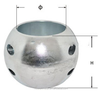 Zinc shaft anode for ship by anode manufacturer in china