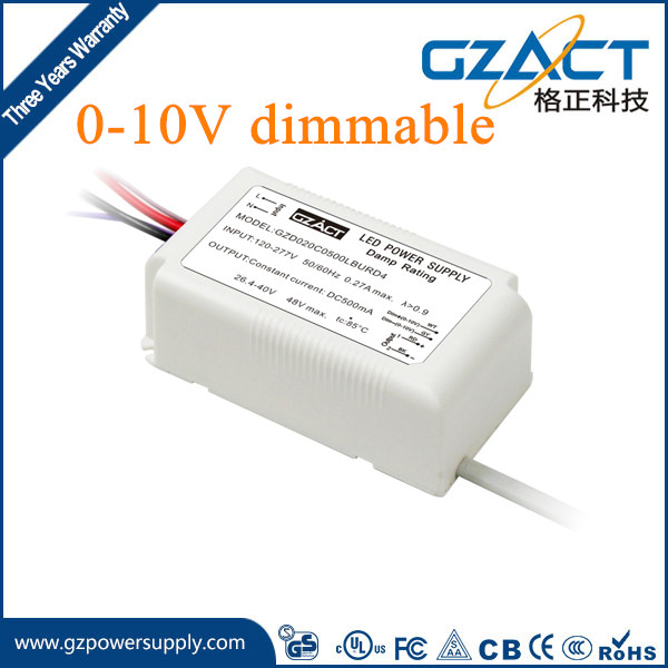 TUV SAA CE approved 0-10v dimmable AC 230V led dimming driver 0-10v dimming led driver