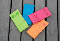 custom embossed logo memo pad in candy color
