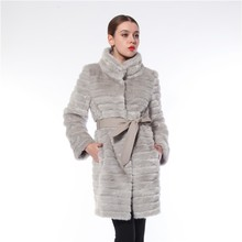 Reasonable Price Comfortable Eco-friendly Europe Style Sexy Women Fur Coat