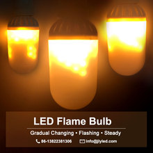 2018 new product fire effect lamp led flickering flame bulb 12v 110v 220v 230v 240v holiday lighting for home indoor and outdoor
