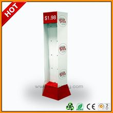 hot advertising shawl customized display stand ,hot display ,hosue shaped paper display