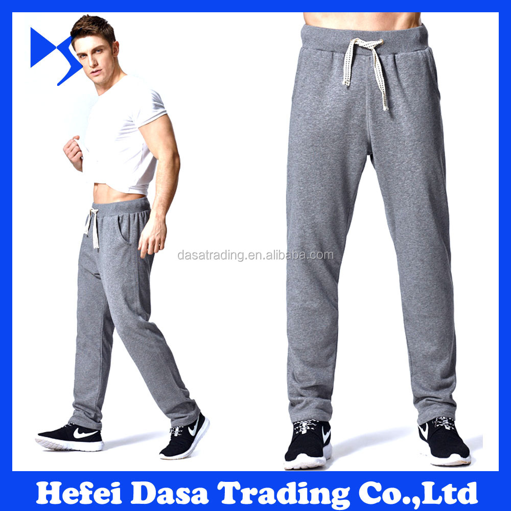 2016 New Arrival Mens Cotton Spandex Training Pants Slim Fit Tapered Gym Mens Joggers