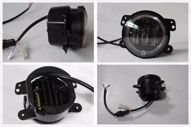 New Arrival, Demon eye 4inch 30W 2800LM LED Jeep fog light with halo ring DRL for jeep wrangler JK