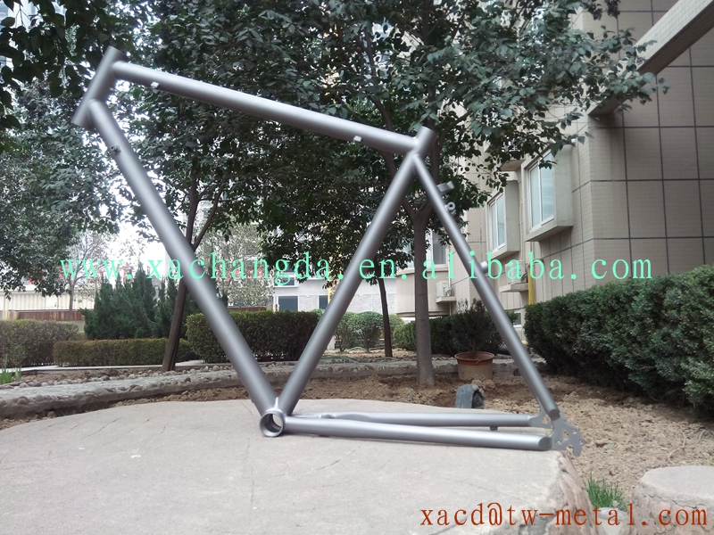 titanium mountain bike frame V brake with sand blast finished made in China