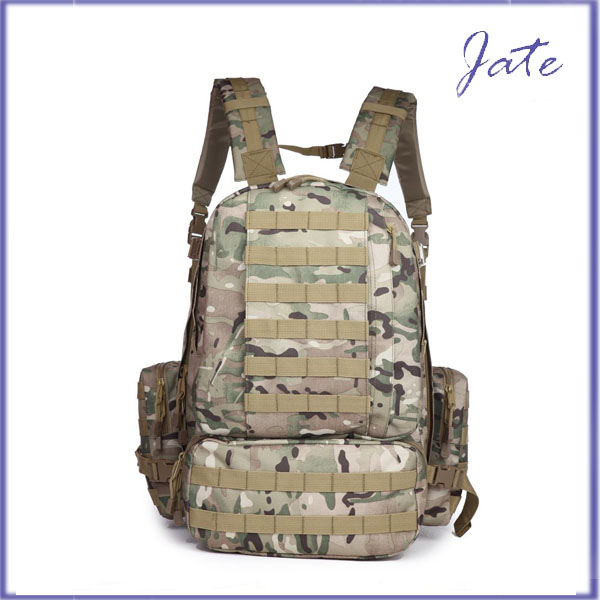 Large Tactical Backpack with Grenade Survival Kit, Pattern Military Backpack, Velcro Military Backpack