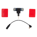 Shoot Mini Stereo Microphone with 3.5mm USB Connector & Sticky Tapes for GoPro Hero 3/3+/4