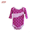 Latest design plain baby romper cotton baby ruffle rompers autumn spring clothing romper set