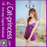 high quality charming ruffle girls nighty sexy wear