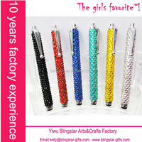 rhinestone wholesale crystal stylus touch pen