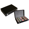 Faux Leather Poker Chip Set for Playing Casion Game