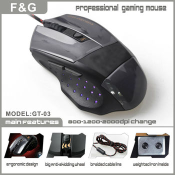 6 buttons mouse gameing with lighted logo