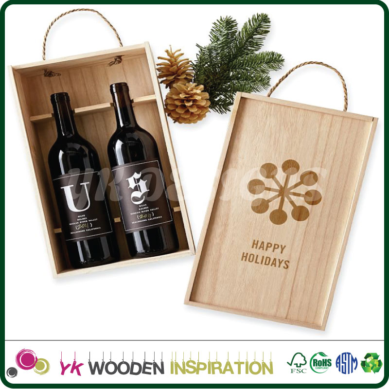 Wooden Craft Wine Bottle Carrier, Tote Crate Kit Custom and Personalized