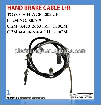 toyota hiace hand brake cable for hiace KDH 200 46430-26450 46420-26631