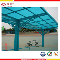 100% raw lexan construction material pc polycarbonate canopy patio cover