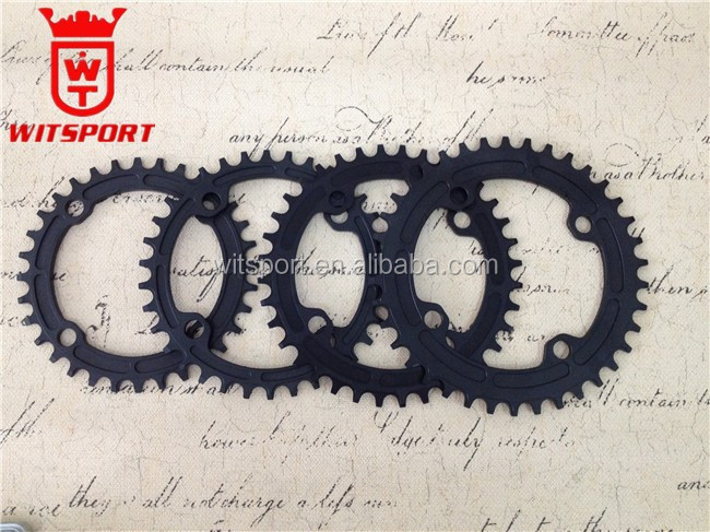 sand blasted anodized colorful CNC machined stop dropping bicycle chainring 32-38T