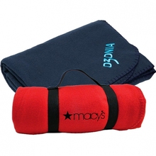 Promotional Polar Fleece Foldable Outdoor Picnic Blanket