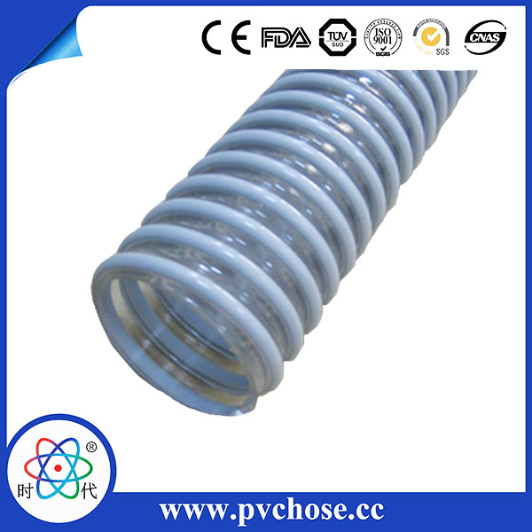 Clear PVC Corrugated Suction Helix Hose-10inch