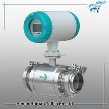 LCD display water electric flow meter for industry