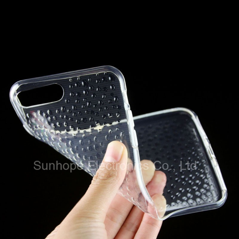 jell clear New design cell phone case for iPHONE 7 PLUS tpu soft cover