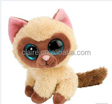 plush big eyes cat toys,stuffed toy cat, cat stuffed <strong>animal</strong>
