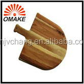 hot selling save money high quality acacia wood thick wooden pizza peel with handle