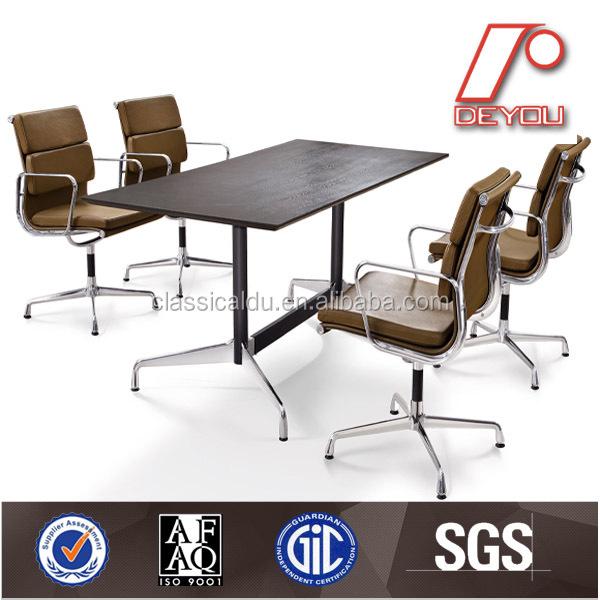 Replica gesegmenteerde modulaire vergadertafel met aluminium been CT 609 houten tafels product