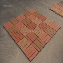 Terrace Decking Interlock Easy Installation DIY WPC Tile , Garden tiles