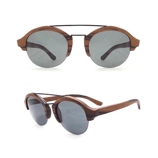 W50 High Quality Cheap Wooden Metal Eyewear Custom Made Polarized Bamboo Gafas De Sol Polarizadas Madera Sunglasses in China