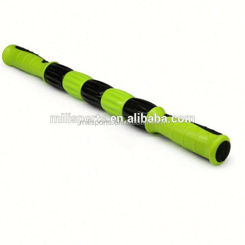 High quality ABS colourful muscle massage roller stick deep tissue flexible and adjustable roller massage stick