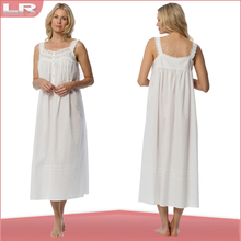 Delicate quality lace 100% Cotton best lady gown
