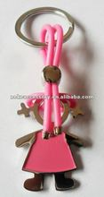 Fashion Girl Design Metal Keyring With enamel colour