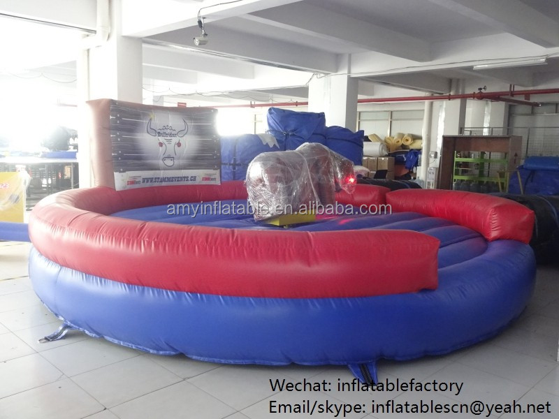 PK Crazy Game Amusement Park Ride Mechanical Bull Ride Inflatable Bull Riding Machine For Sale