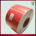 Red Industrial thermal sticker paper