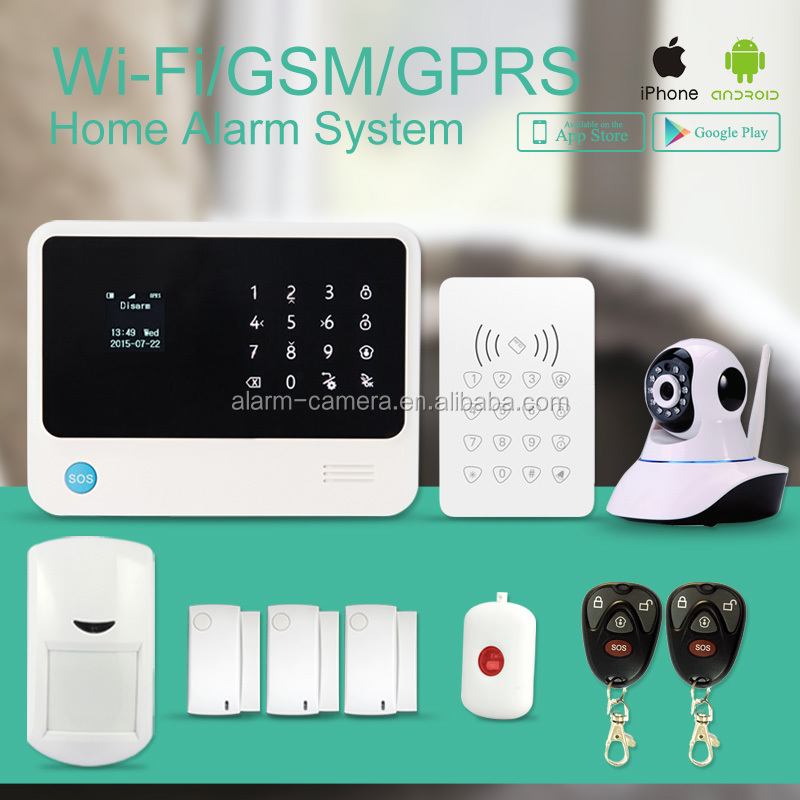Smart Home Fire GSM Wifi security alarm system & Nice design APP support push via internet,IP cloud